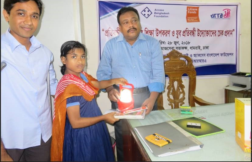 a man giving study materials to a girl