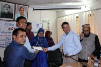 the entrepreneurs were provided cheque which is non refundable start up support