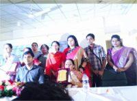 Ms. Mohua Paul is receiving Joyeeta Award from Savar Upazila