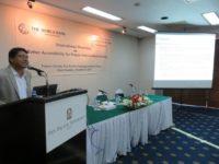 Albert mollah giving speech in Paper presentation ceremony at pan pacific sonargaon