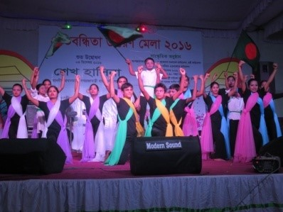 Deaf youths performing in a national event